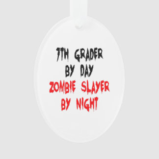 Zombie Slayer Seventh Grader Ornament