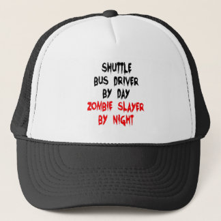 Zombie Slayer Shuttle Bus Driver Trucker Hat