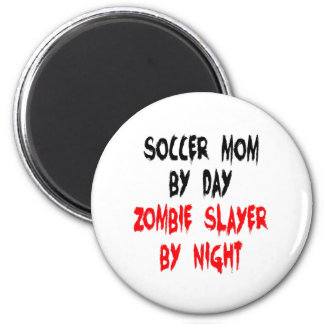 Zombie Slayer Soccer Mom Magnet