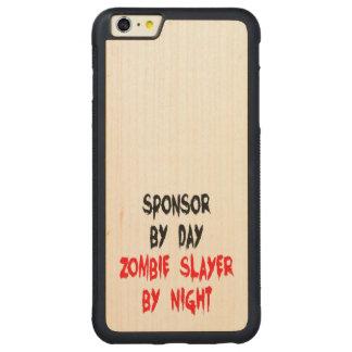 Zombie Slayer Sponsor Carved Maple iPhone 6 Plus Bumper Case