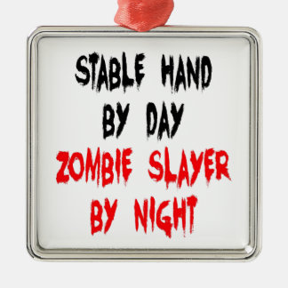 Zombie Slayer Stable Hand Metal Ornament