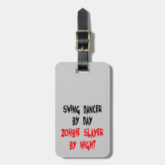 Zombie Slayer Swing Dancer Bag Tags