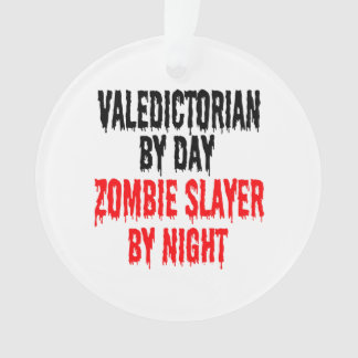 Zombie Slayer Valedictorian Ornament