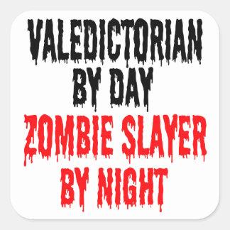 Zombie Slayer Valedictorian Square Sticker