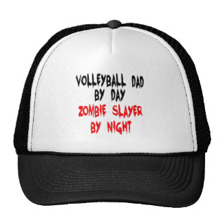 Zombie Slayer Volleyball Dad Hats