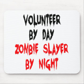 Zombie Slayer Volunteer Mouse Pad