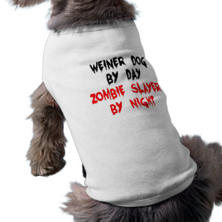 Zombie Slayer Weiner Dog Shirt