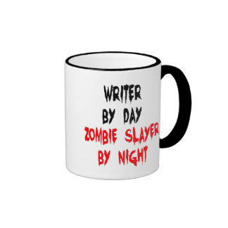 Zombie Slayer Writer Ringer Coffee Mug