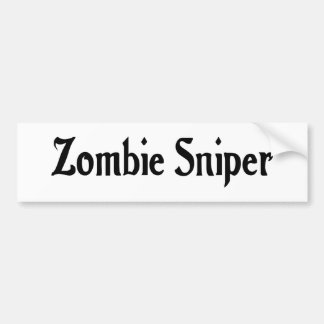 Zombie Sniper Bumper Sticker