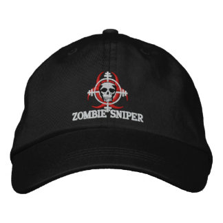 ZOMBIE SNIPER WITH SKULL HAT EMBROIDERED HATS