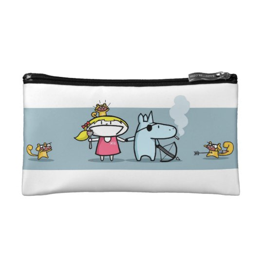 Zombie Squirrel Apocalypse make-up bag Cosmetics Bags
