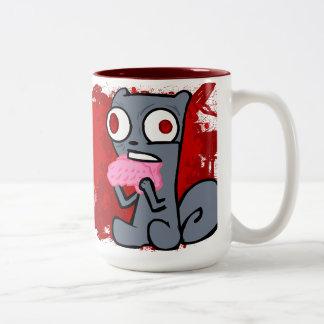 Zombie Squirrels Mug! Two-Tone Coffee Mug