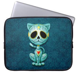Zombie Sugar Kitten, blue Computer Sleeves