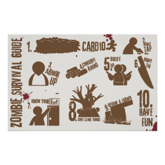 Zombie Survival Guide Poster