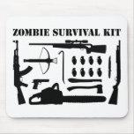 Zombie Survival Kit Mousepad