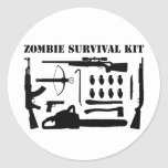 Zombie Survival Kit Round Sticker