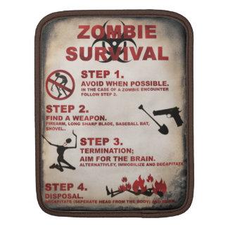 Zombie survival list iPad sleeve