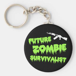Zombie Survivalist Keychain