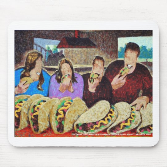 Zombie Taco Tuesday Mouse Pad