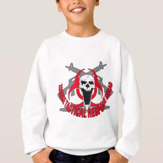 Zombie tactical red sweatshirt
