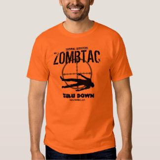 """Zombie Tactical """"Zulu Down!"""" T Shirt"""