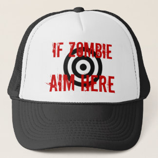 Zombie Target Trucker Hat