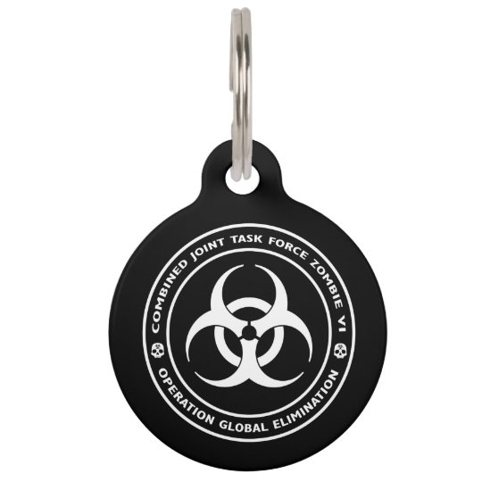 Zombie Task Force Pet Tag