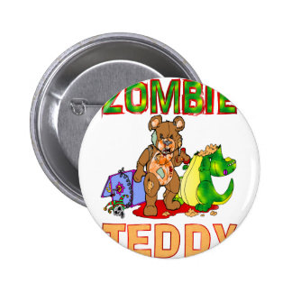 Zombie Teddy 2 Inch Round Button