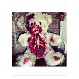 zombie teddy bear postcard