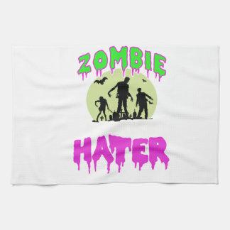 Zombie tee kitchen towel