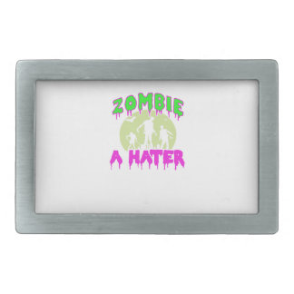Zombie tee rectangular belt buckle