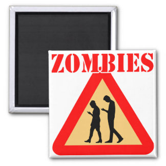 Zombie Teens With Cell Phones Magnet