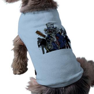 Zombie Uncle Sam Doggie Shirt