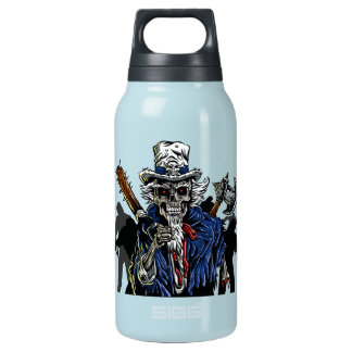 Zombie Uncle Sam Insulated Water Bottle