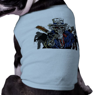 Zombie Uncle Sam Pet Tee Shirt