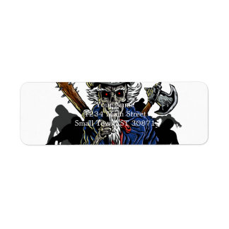 Zombie Uncle Sam Return Address Label