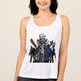 Zombie Uncle Sam Tank Top