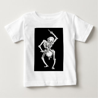 Zombie Undead Skeleton Marching and Beating A Drum Baby T-Shirt
