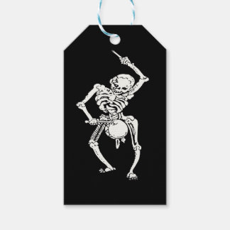 Zombie Undead Skeleton Marching and Beating A Drum Gift Tags