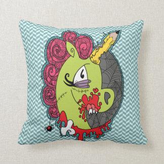 Zombie Unicorn Pillow