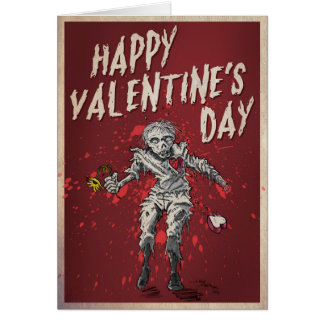 Zombie Valentine's Day Humour Card