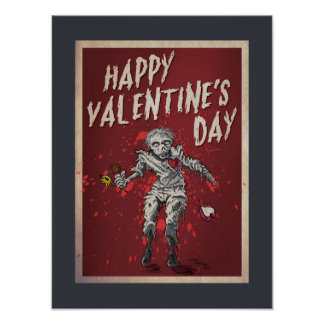 Zombie Valentine's Day Poster