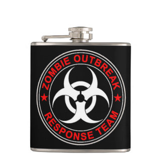 Zombie Walking Response Team Dead Walkers Flask