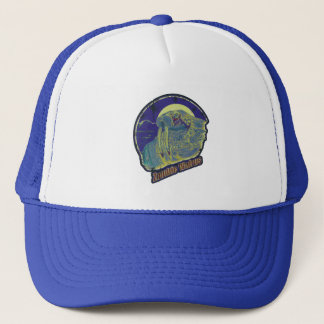 Zombie Walrus - Original Purple Distressed Look Trucker Hat