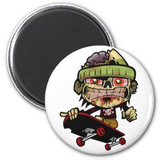 Zombie Zim 2 Inch Round Magnet
