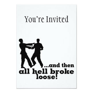 "Zombies All Hell Broke Loose 5"" X 7"" Invitation Card"