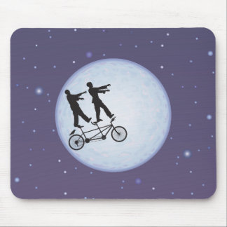Zombies Apocalypse Cyclists in Love Mouse Pad