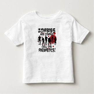 Zombies Are Coming Call The Paramedics Kid Shirt