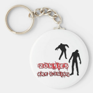 Zombies Are Coming Keychain