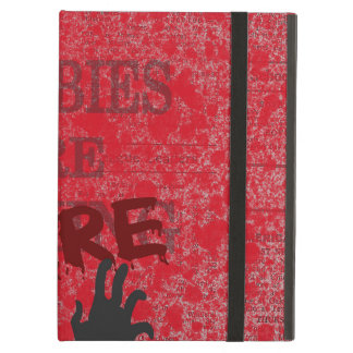 Zombies Are Here Blood Splattered Newspaper Cover For iPad Air